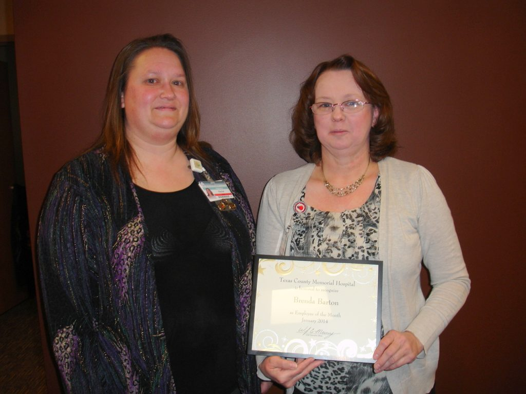 Brenda Barton (right) with her supervisor, Rachel Phillips.