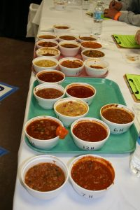 24 different types of chili at the 8th cook off
