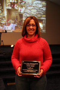 Shannon Bridges  won a customer service award at the event.
