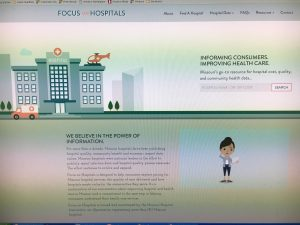 The home page of the new Focus on Hospitals website.