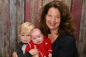 Dr. Jennifer Groner with her children, Matthew & Sarah.