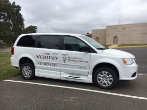 One of two new Medivans available at TCMH for non-emergency transportation.