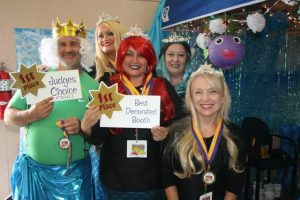 "Under the Sea-Mermaid Couture was the theme of the TCMH Obstetrics department.  The team won ""Judges' Choice"" for best chili and also won awards for the ""Best Decorated Booth"", ""People's Choice"" and ""TCMH Choice""."