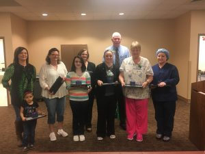 Some of the nurses from TCMH that were recognized for outstanding dedication and excellence in their department.